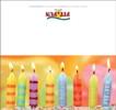 Geburtstagskarten Kerzen klappbar