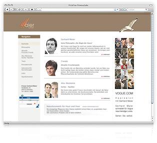 Screenshot Website Maier Schnitt