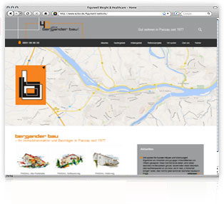 Webdesign Bergander Bau Passau von Werbeagentur M&W Passau/Eging