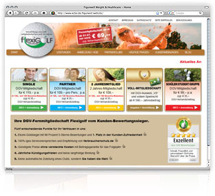 Webdesign Flexigolf von Werbeagentur M&W Passau/Eging