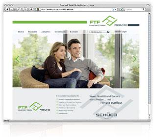 Webdesign FTF Fenster Türen Freund von Werbeagentur M&W Passau/Eging