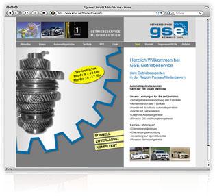 Webdesign Passau gse Getriebeservice Werbeagentur M&W Eging