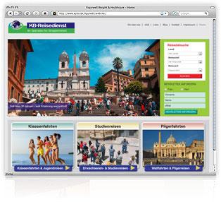 Webdesign KB-Reisen von Werbeagentur M&W Passau/Eging