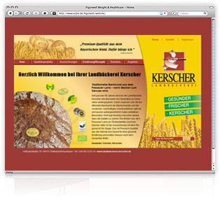 Webdesign Passau Landbaeckerei Kerscher Werbeagentur M&W Eging