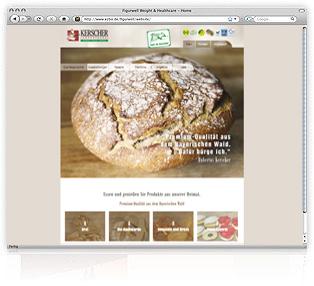 Webdesign Passau Landbäckerei Kerscher Werbeagentur M&W Eging