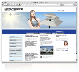 Webdesign Lichtkuppelshop24 von Werbeagentur M&W Passau/Eging