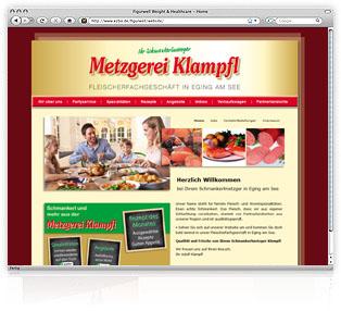 Webdesign Passau Metzgerei Klampfl Werbeagentur M&W Eging