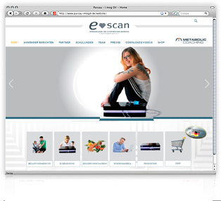 Webdesign e-scan von Werbeagentur M&W Passau/Eging