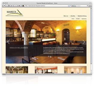 Webdesign Schreinerei Mareck von Werbeagentur M&W Passau/Eging