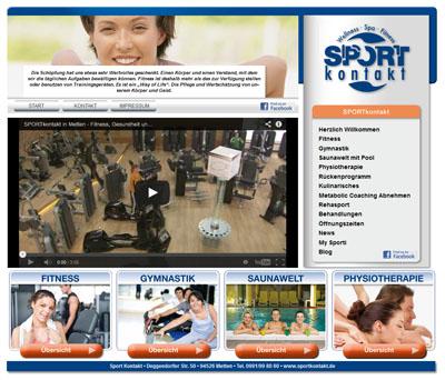 Screenshot Sportkontakt Werbeagentur Deggendorf