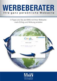 Kostenlose e-book Werbeberater Webseite von Werbeagentur M&W Eging Passau