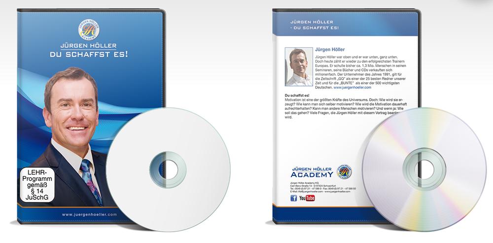 DVD/CD Gestaltung für Jürgen Höller Academy, Schweinfurt
