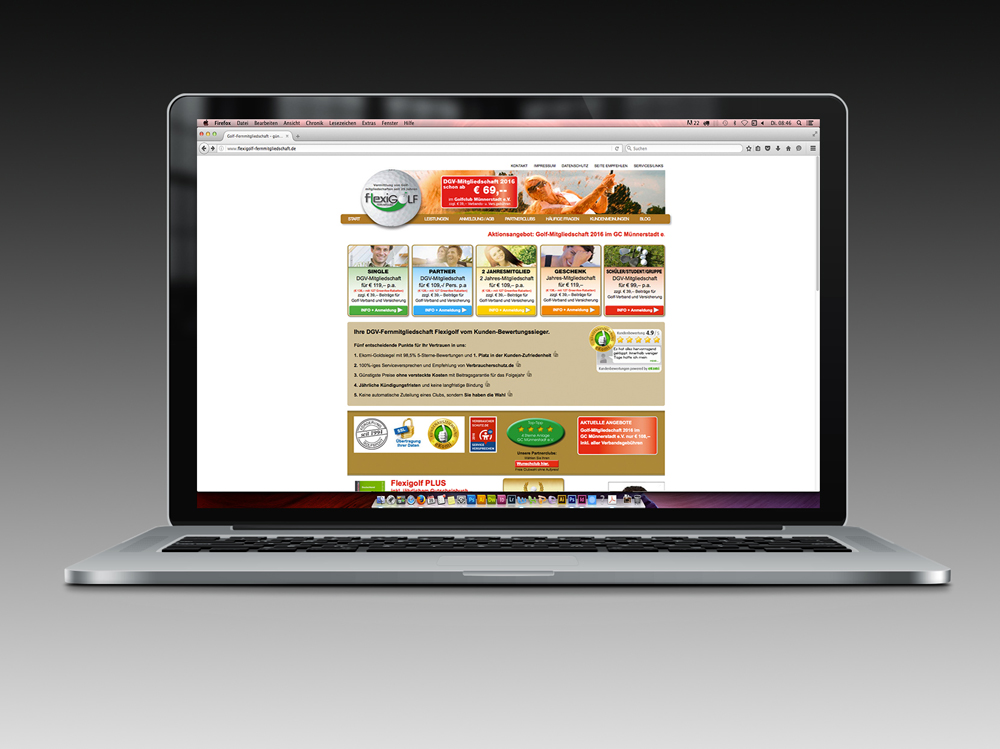 Webdesign und Programmierung Flexigolf