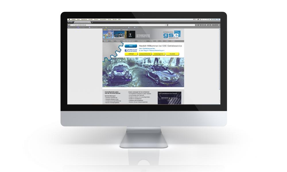 Webdesign und Programmierung GSE Getriebeservice Passau
