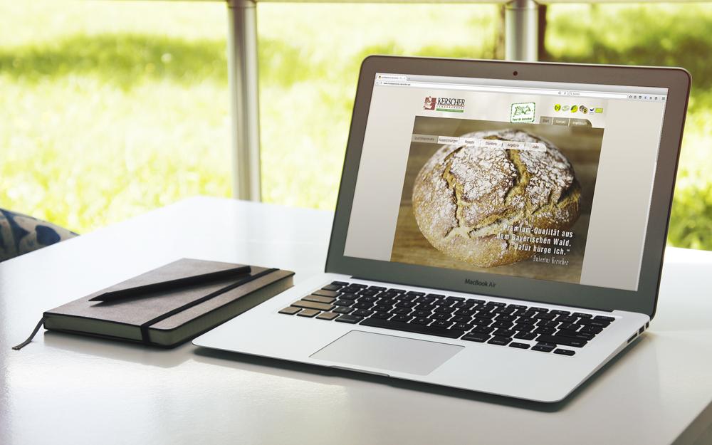 Webdesign und Programmierung  Landbäckerei Kerscher