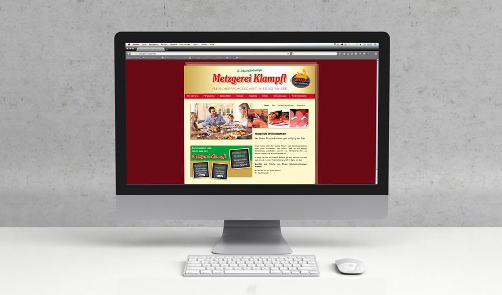 Webdesign und Programmierung Metzgerei Klampfl