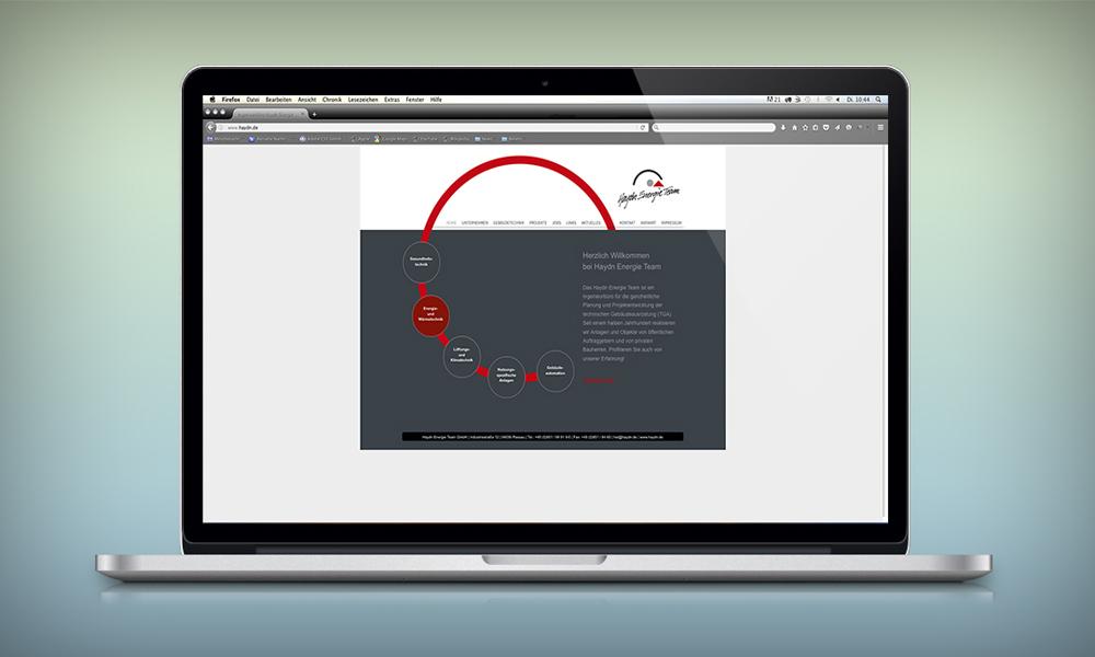 Webdesign und Programmierung Haydn Energie Team