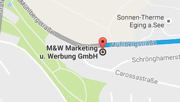 Anfahrt Werbeagentur M&W Eging/Passau
