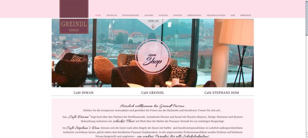 Website Greindl neues Design