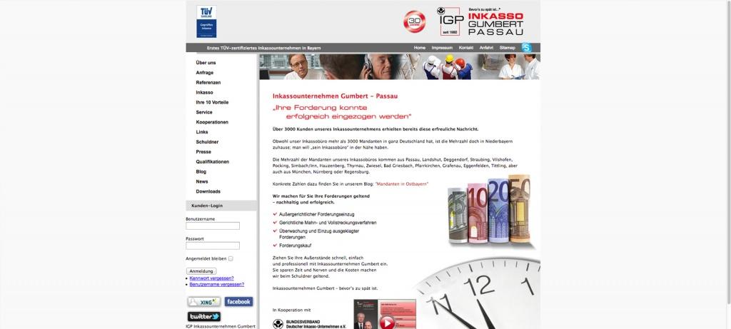 Website IGP altes Design