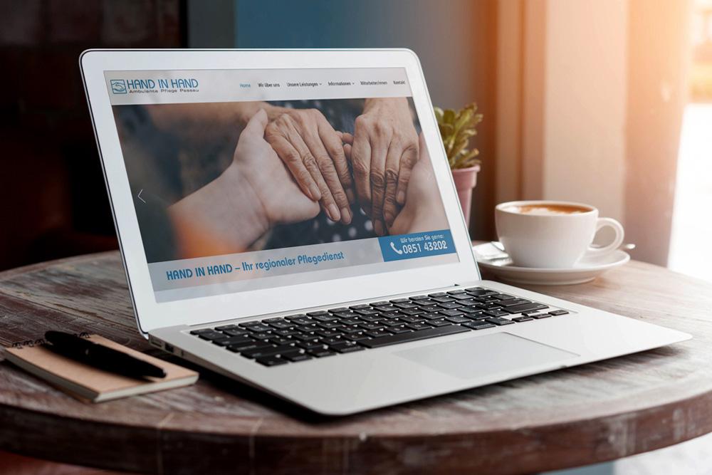Werbeagentur M&W - Webdesign und Programmierung responsive Hand in Hand, Passau