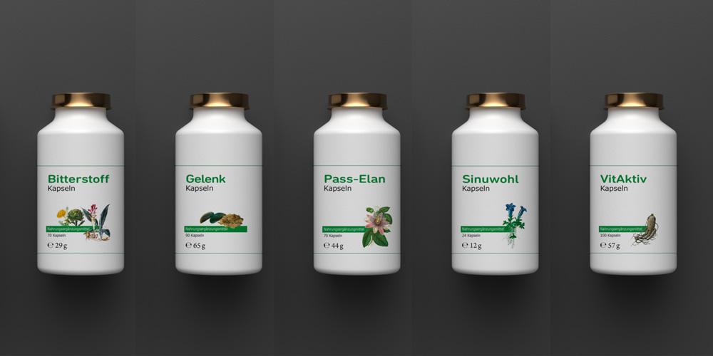 Werbeagentur M&W  Konzeption und Gestaltung Etikettenserie Engel Apotheke