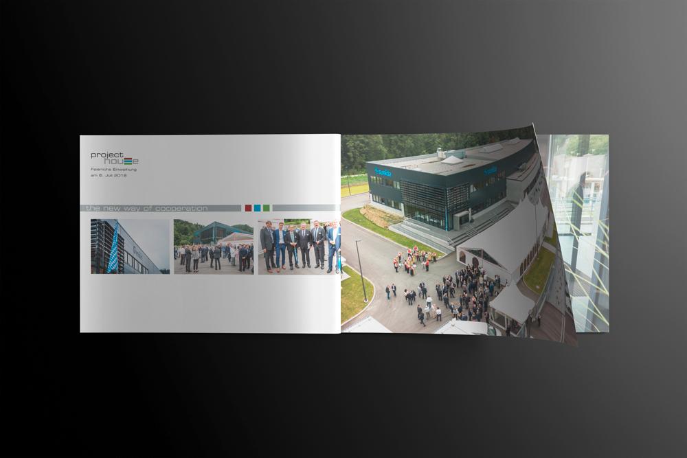 Werbeagentur M&W Konzeption, Gestaltung und Druck Broschüre project house für sumida