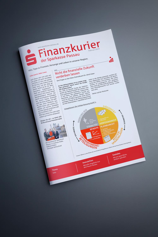 Sparkasse Finanzkurier 2019 - M&W Werbeagentur Eging/Passau