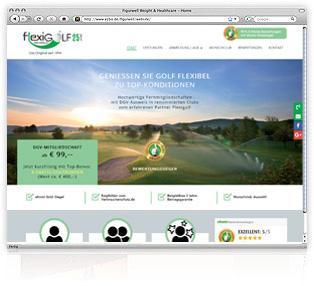 Webdesign Flexigolf Werbeagentur MW Passau Eging