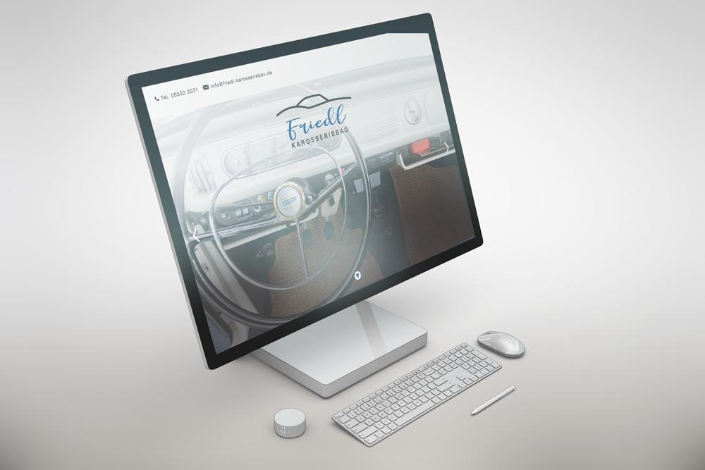 Webdesign und Programmierung Homepage Friedl Karosseriebau