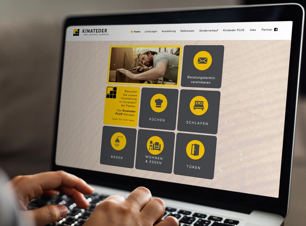 Relaunch Website Schreinerei Kinateder