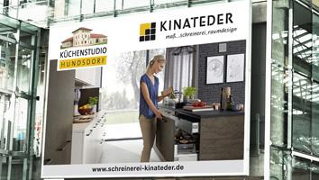 Gestaltung Großflächenplakat Schreinerei Kinateder - M&W Werbeagentur Eging/Passau