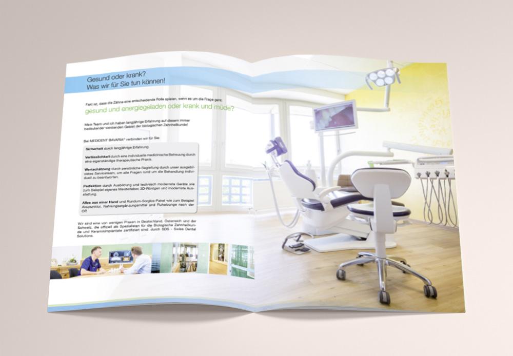 Gestaltung Broschüre Medident Bavaria - M&W Werbeagentur Eging/Passau