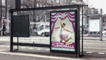 Konzept und Gestaltung Veranstaltungsposter TV Passau - M&W Werbeagentur Eging/Passau
