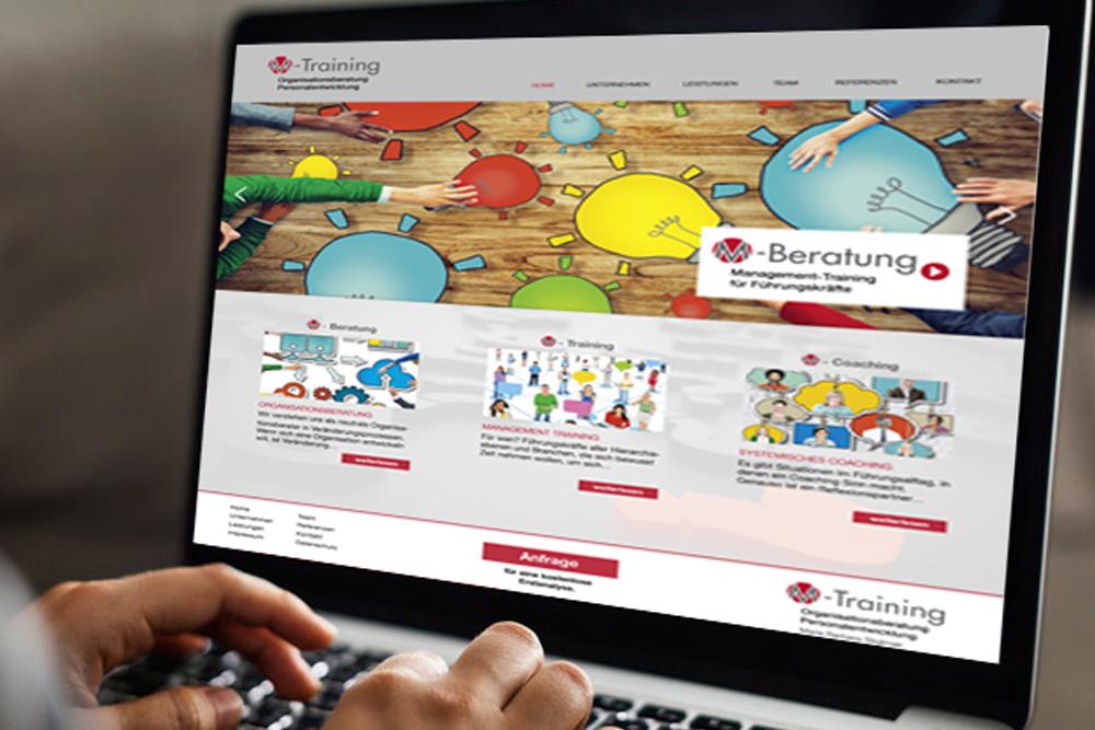 Webdesign und Programmierung Website Unternehmensberatung - M&W Werbeagentur Eging/Passau