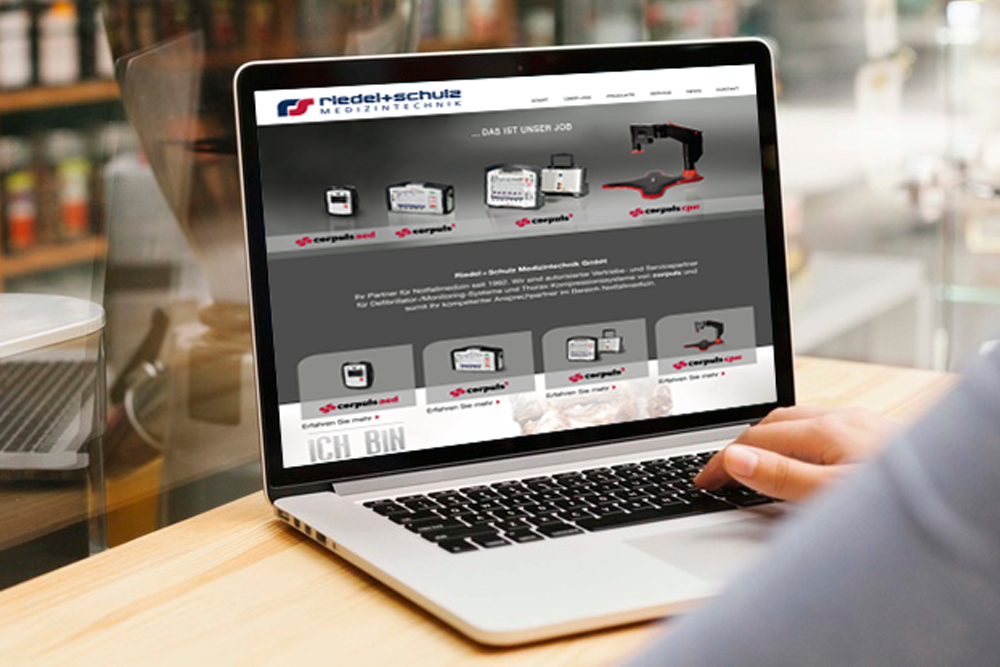 Webdesign und Programmierung Website Medizintechnik - M&W Werbeagentur Eging/Passau