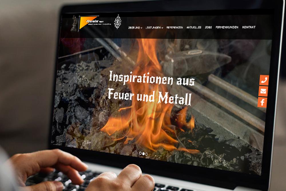 Design und Programmierung Website Alteneder Kunstschmiede