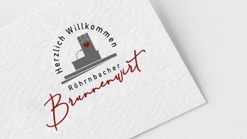 Logogestaltung Brunnenwirt - M&W Werbeagentur Eging/Passau