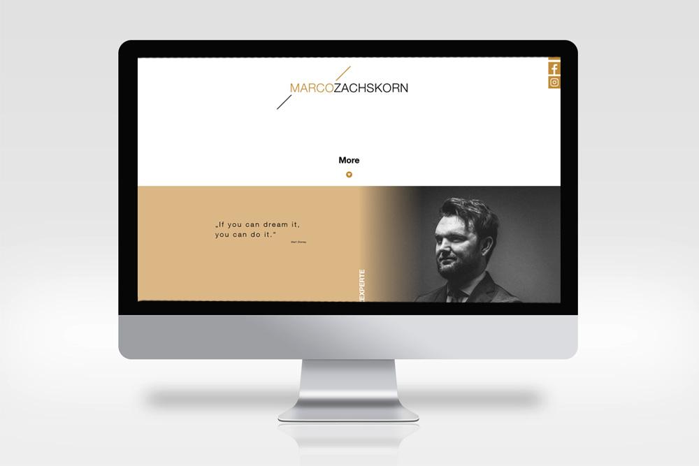 Design und Programmierung Website Zachskorn - M&W Werbeagentur Eging/Passau