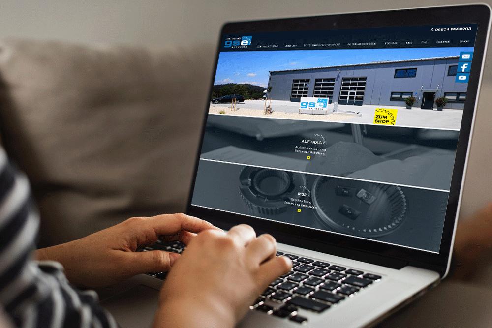 Webdesign und Programmierung Website GSE - M&W Werbeagentur Eging/Passau