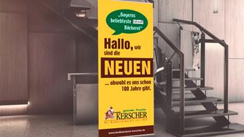 Gestaltung und Produktion RollUp Bäckerei Kerscher - M&W Werbeagentur Eging/Passau