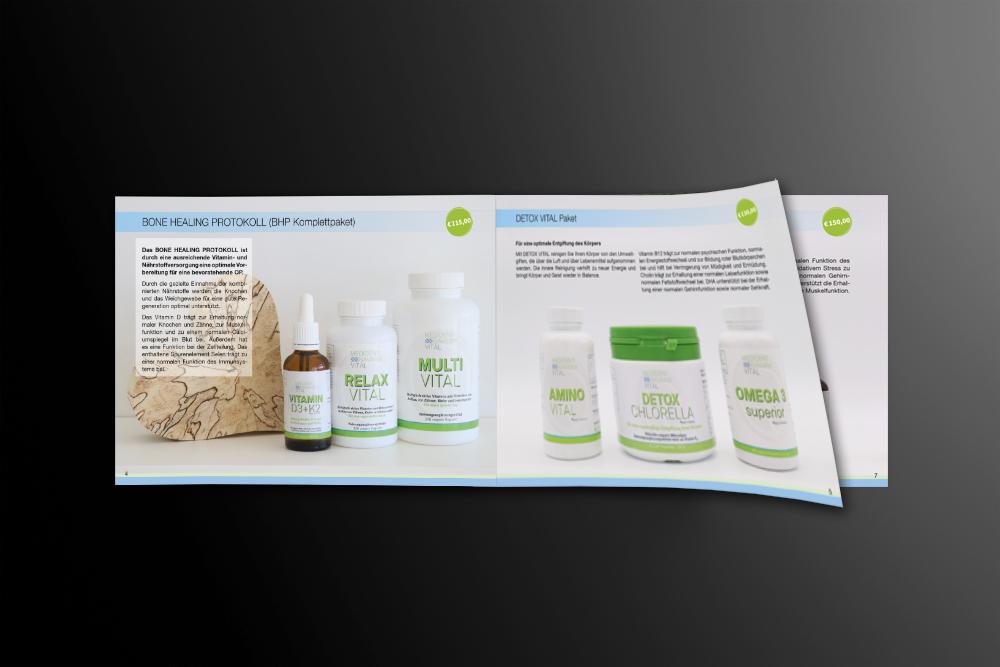 Gestaltung und Druck Produktbroschüre medident bavaria - M&W Werbeagentur Eging/Passau
