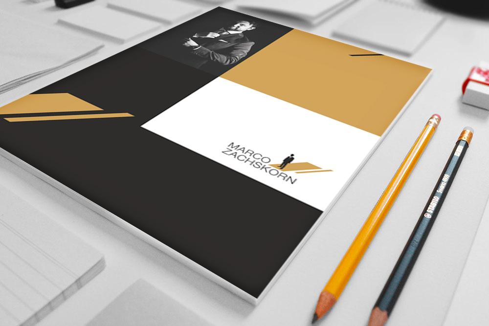 Gestaltung und Druck Notizbuch Marco Zachskorn - M&W Werbeagentur Eging/Passau