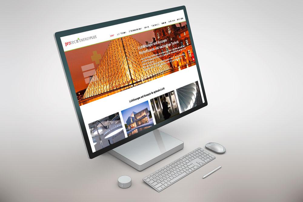Webdesign und Programmierung Website protec ENERGIEPLUS
