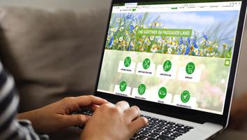 Webdesign und Programmierung Website Garten Ziegler - M&W Werbeagentur Eging/Passau