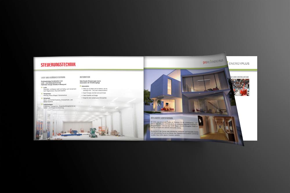 Konzeption und Gestaltung Imagebroschüre protec - M&W Werbeagentur Eging/Passau