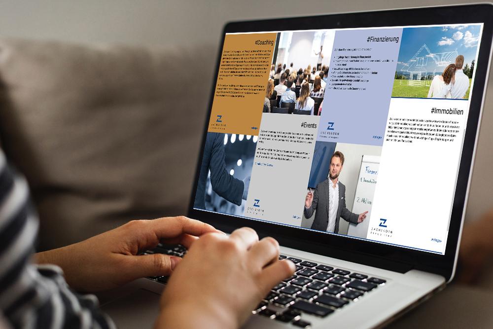 Design und Programmierung Website Zachskorn GmbH- M&W Werbeagentur Eging/Passau