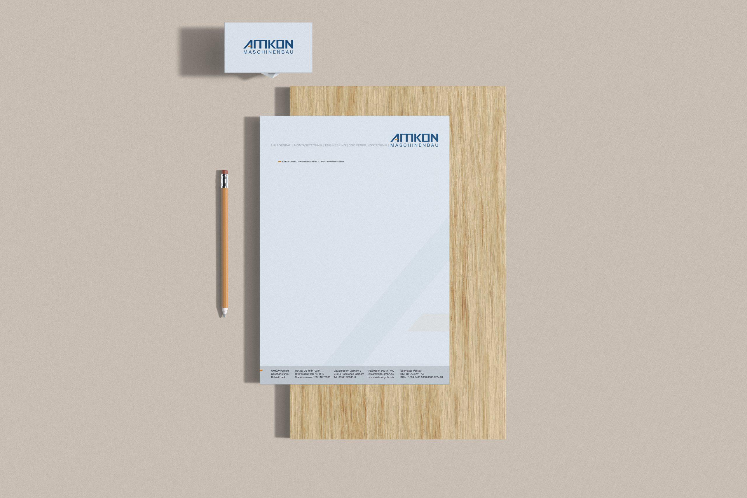 Logo und Corporate Design amkon - M&W Werbeagentur Eging/Passau