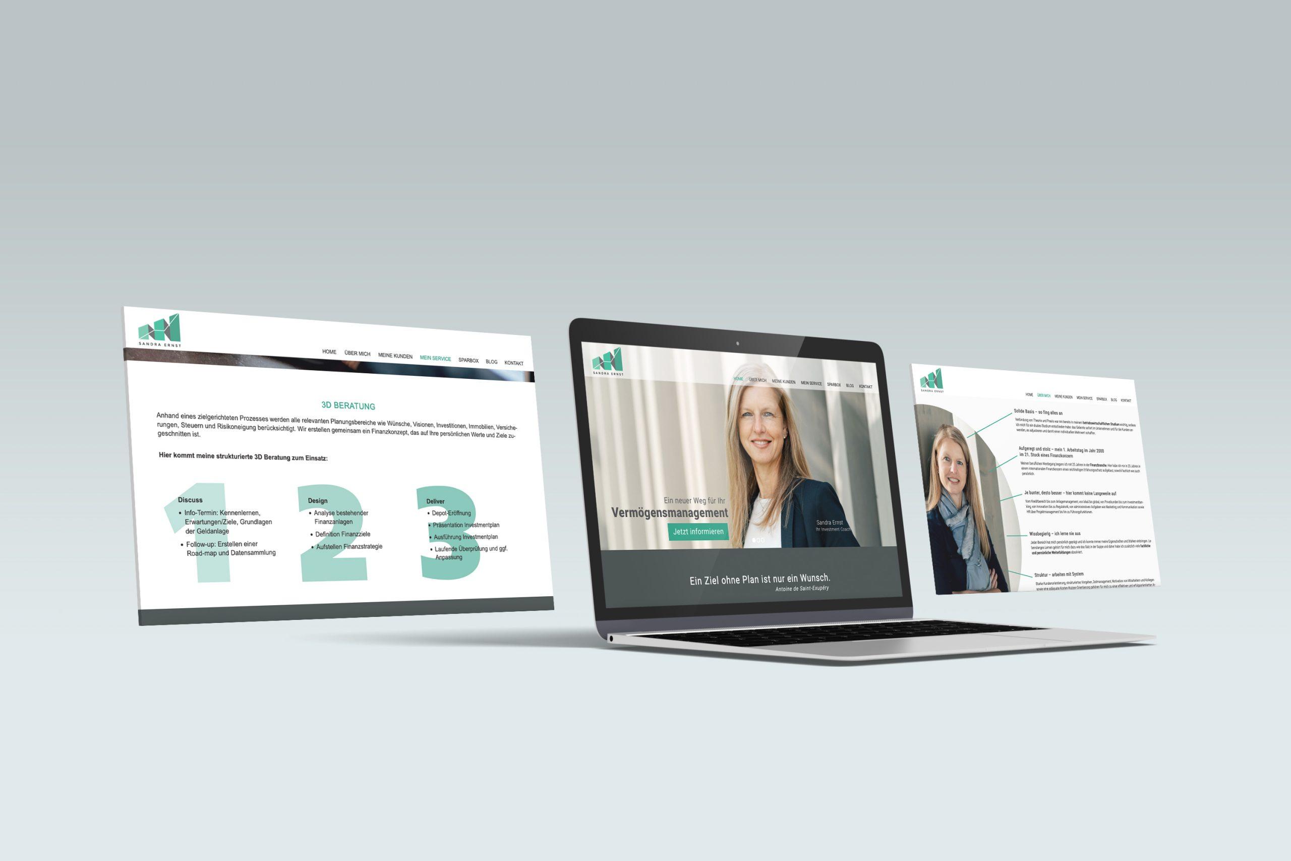 Design und Programmierung Website Sandra Ernst - M&W Werbeagentur Eging/Passau